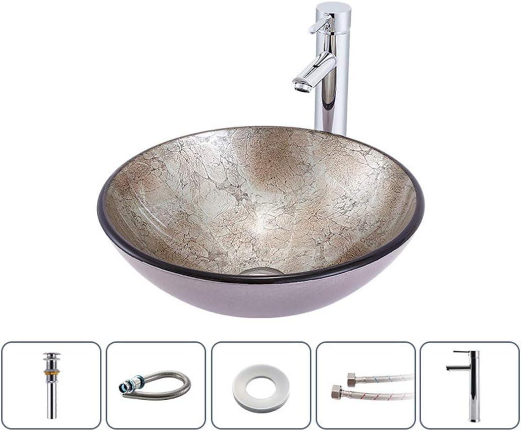 Bathroom Vanity Vessel Sink Home Hotel Wash Bowl Bath Basin Faucet Pop Drain Set