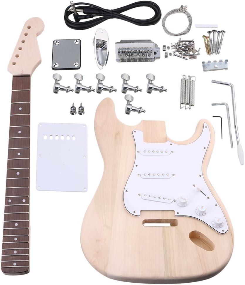 BQLZR arce Kit de guitarra eléctrica cuerpo cuello diapasón ...