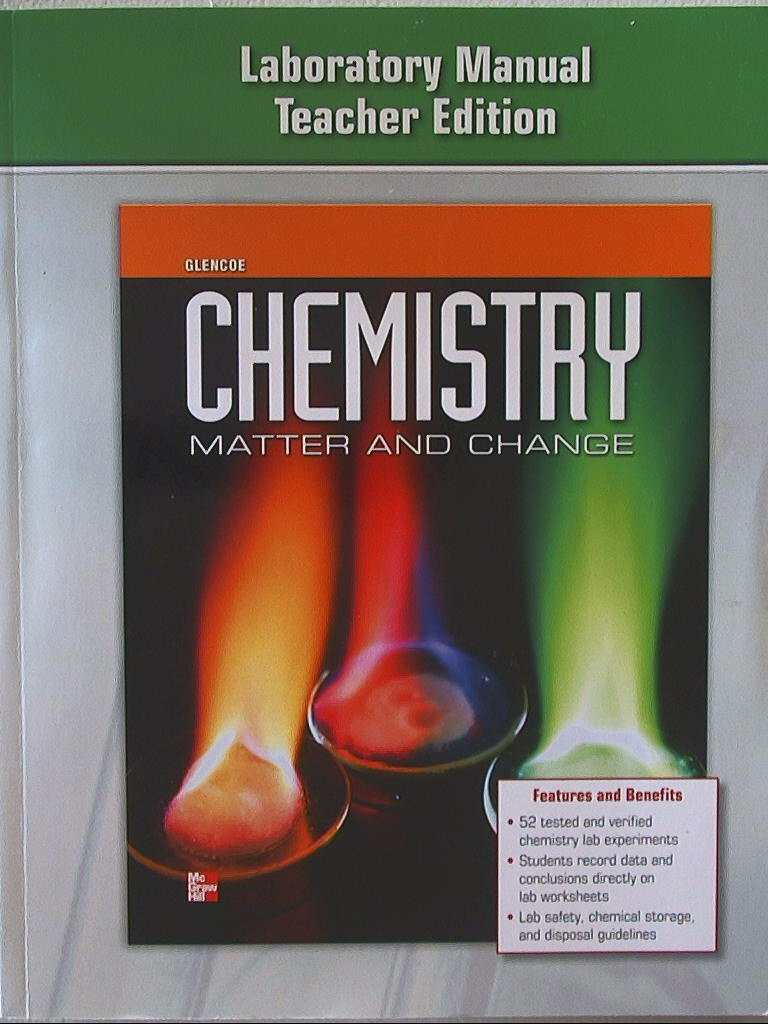 Chemistry, Matter and Change. Laboratory Manual Teacher Edition.  9780076613663, 0076613666.: Amazon.com: Books