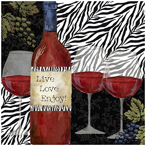 Thirstystone Occasions Trivet, Zebra Wine, (Zebra Trivet)