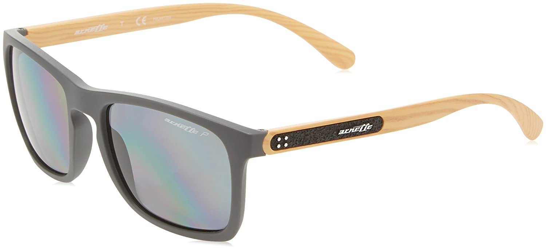 53a6203aa1 Amazon.com  Arnette Men s Burnside Polarized Rectangular Sunglasses matte  grey 56.1 mm  Clothing