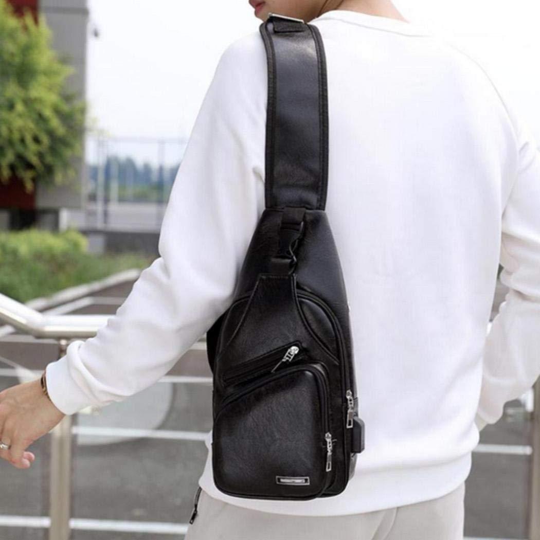 uswine Borsa a tracolla per pettorali casual stile retr/ò con ricarica USB per uomo nuovo Marsupi sportivi