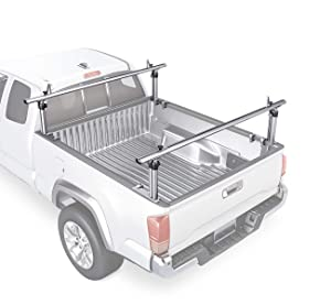 "AA-Racks Model APX2501 71"" Mid-Size Pickup Truck Ladder Racks Low-Profile Height-Adjustable Utility Aluminum Truck Bed Rack with Load Stops"