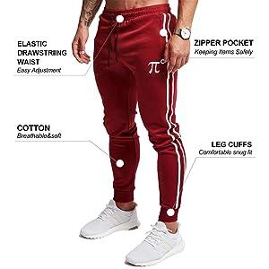 Jogging Jogger Ch/ándal de algod/ón para Hombre Slim Fit Boys SANMIO Pantal/ón Deportivo para Hombre