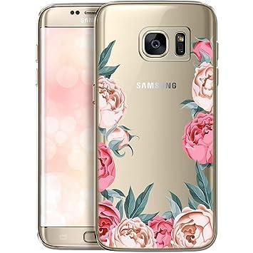 OOH!COLOR Carcasa para Móvil Compatible con Funda Samsung Galaxy S7 Edge Transparente Dibujo Silicona Suave Bumper Teléfono Caso para Samsung S7 Edge ...