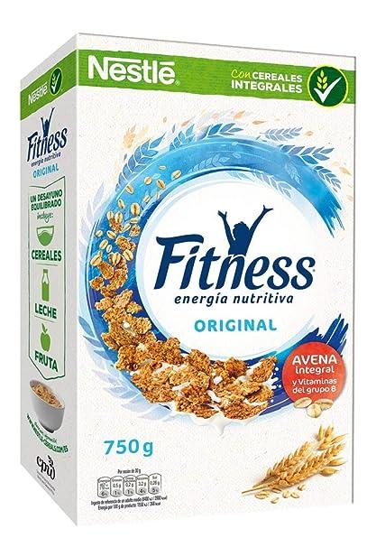 Cereales Nestlé Fitness Original - Copos de trigo integral, arroz y avena integral tostados -