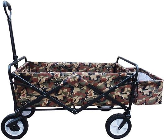 Yuan carretillas Carro Plegable en Las 4 Ruedas - Carrito de Camping Plegable Jardín portátil y Carro de Bricolaje - Capacidad 80KG: Amazon.es: Hogar