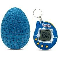Umiwe Virtual Pet Keychain 80s90s Virtuelles Haustier Cyber Digitales Haustierspielzeug mit Tumber Dinosaurier-Ei, virtuelles elektronisches Haustierspielzeug für Kinder und Erwachsene (Blue)