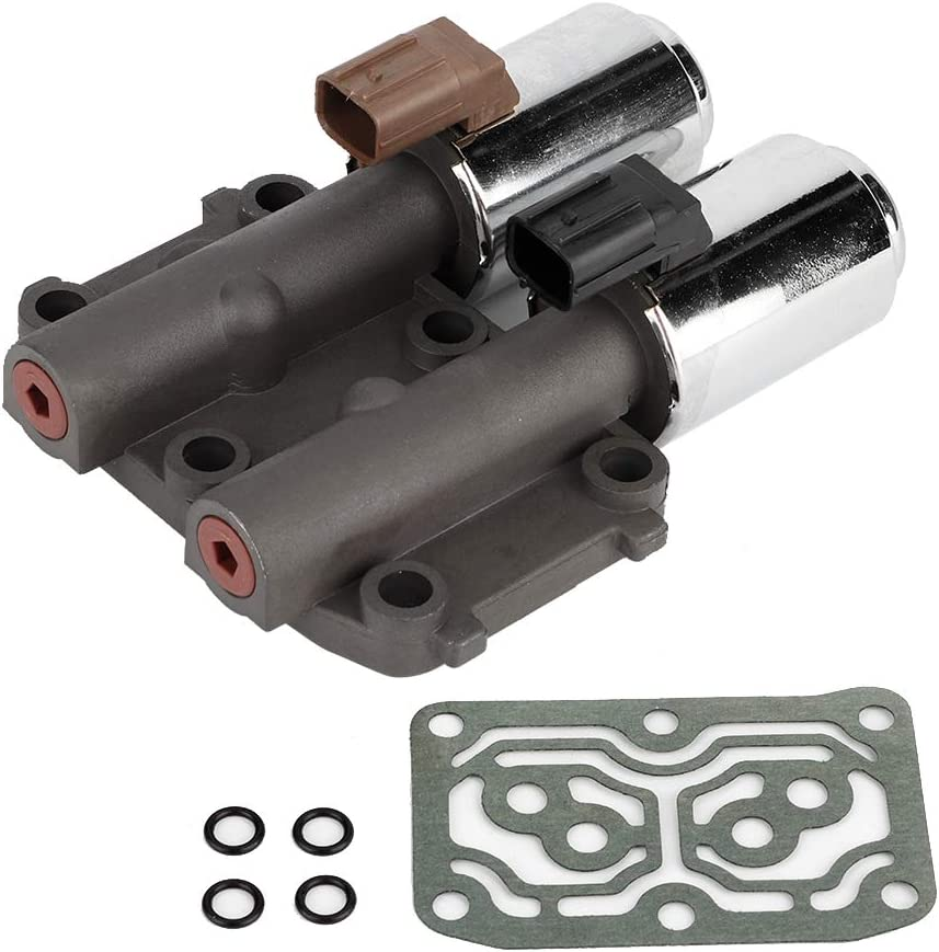 Transmission Dual Linear Solenoid with Gasket 28260-PRP-014 Qiilu Professional Transmission Solenoid for Honda Accord CR-V Element 2002 2003 2004 2005 2006 2007 2008 2009 2010 2011