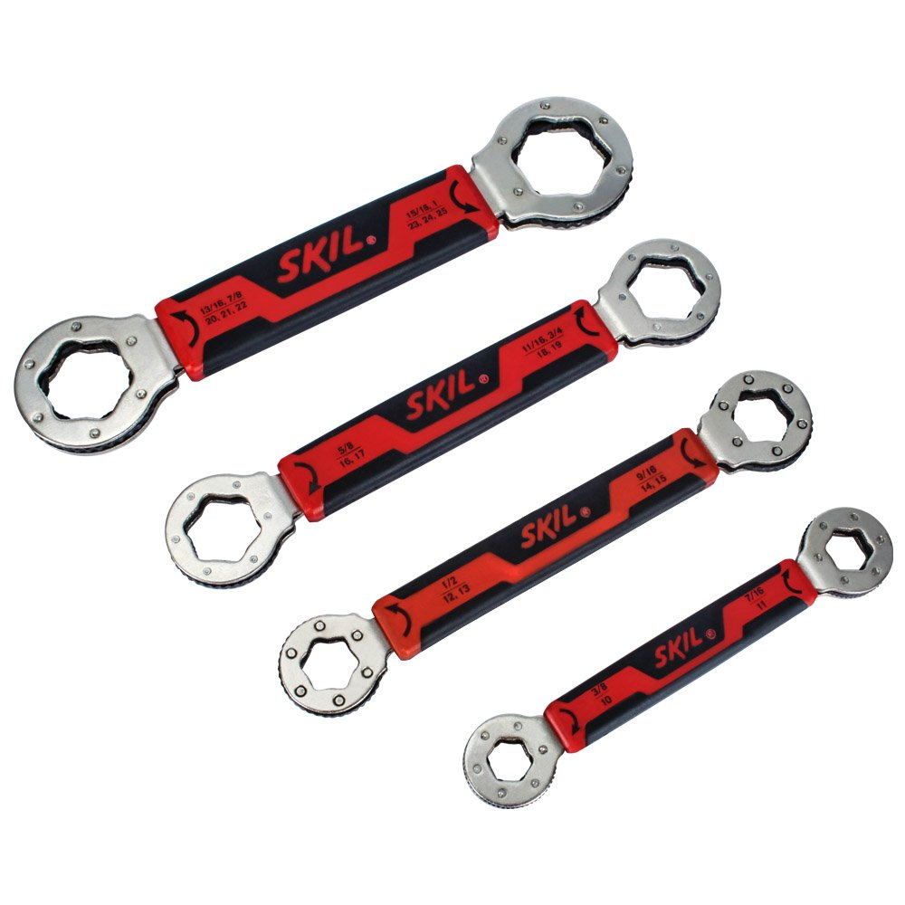 SKIL Secure Grip Self-Tightening Box Wrench Set