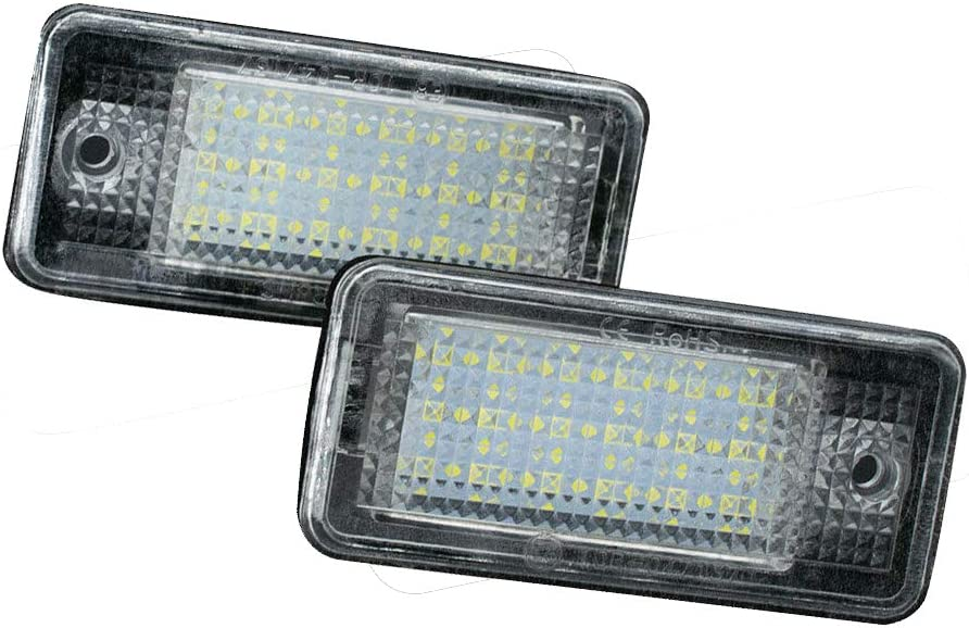 Pair License Plate Light Number Lamp 18 SMD LED Canbus Error Free Assembly Replacement for Audi A3 S3 A4 S4 A5 S5 A6 S6 A8 S8 Q7 car accessories