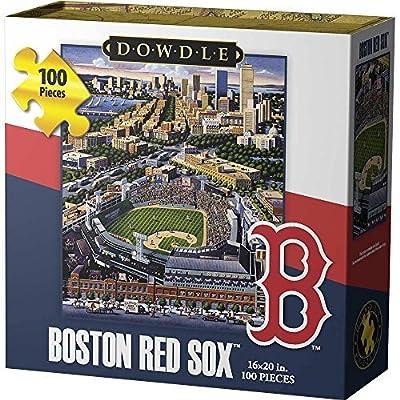 Dowdle Folk Art Boston Red Sox Jigsaw Puzzle (100 Piece): Toys & Games