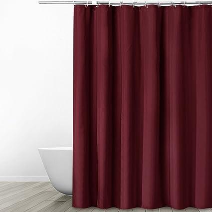 Eforgift Elegant Fabric Shower Curtain Water Repellent Mildew Resistant  100% Polyester Curtain Bathroom Durable Home