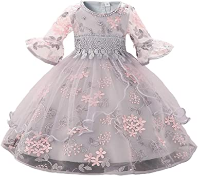 Toddler Little Girl Solid Color Lace Ruffle Dress Sleeveless Button Princess Party Dresses