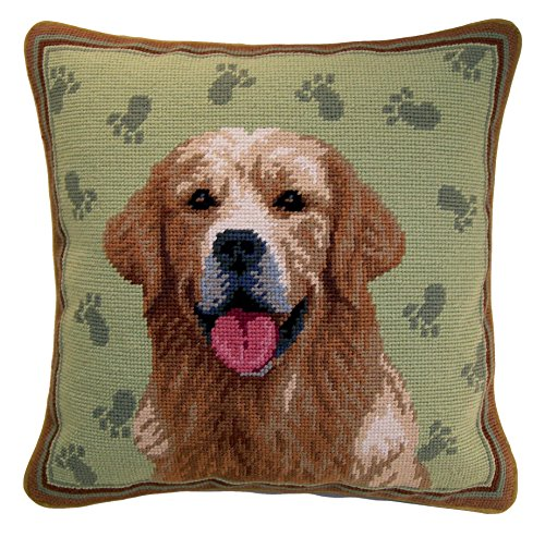 Elegant Décor Needlepoint Pillow