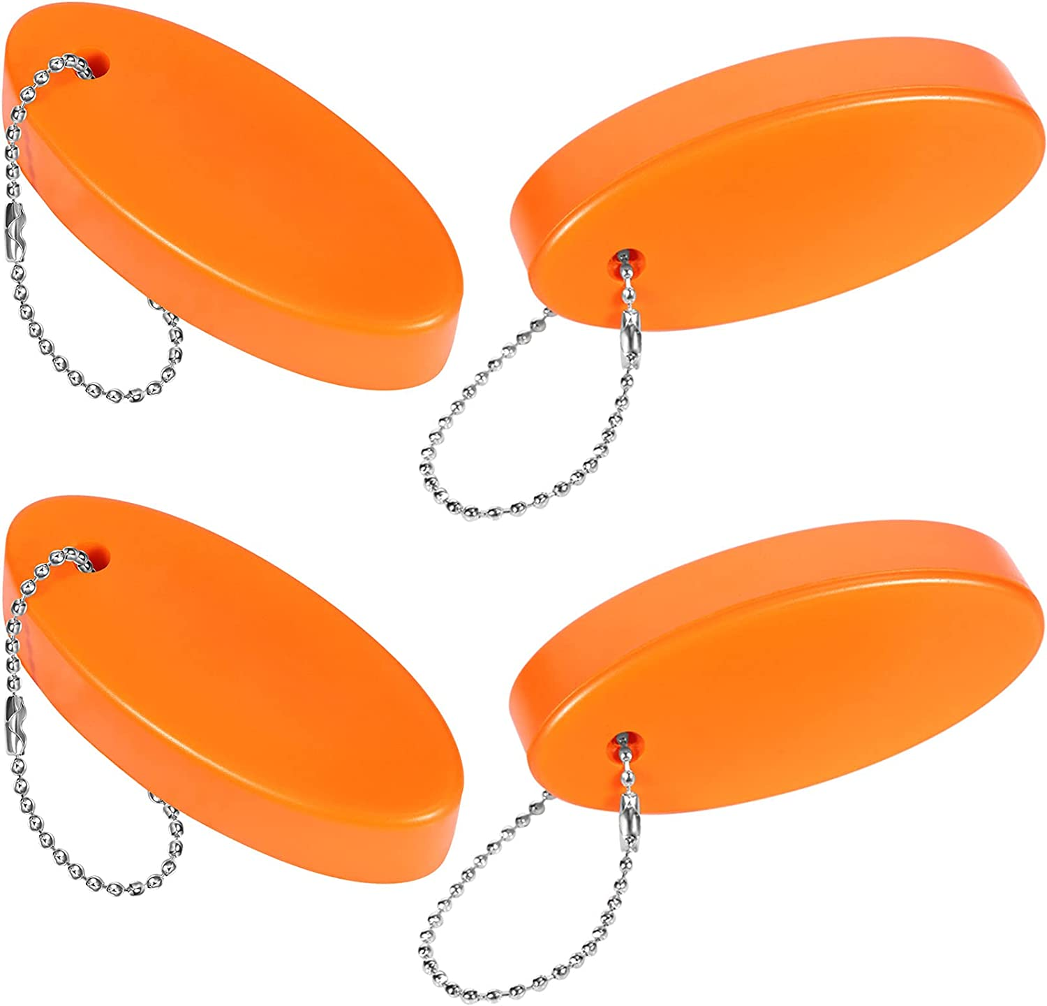 Frienda 10 Pieces Sports Foam Keychains Waterproof Floatable Keychains Boating Fishing Foam Keychains Floatable Key Fobs with 10 Pieces Safety Lanyards for Boating Surfing Sailing and Outdoor Sports