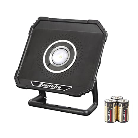 EverBrite CREE LED Work Light with Stand 800 Lumens Waterproof IP54 3D Batteries Included Flood Light  sc 1 st  Amazon.com & EverBrite CREE LED Work Light with Stand 800 Lumens Waterproof IP54 ...
