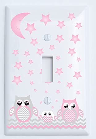 Cute Nursery Owls Light Switch Covers Bedroom Kids Baby Home Decor Outlet
