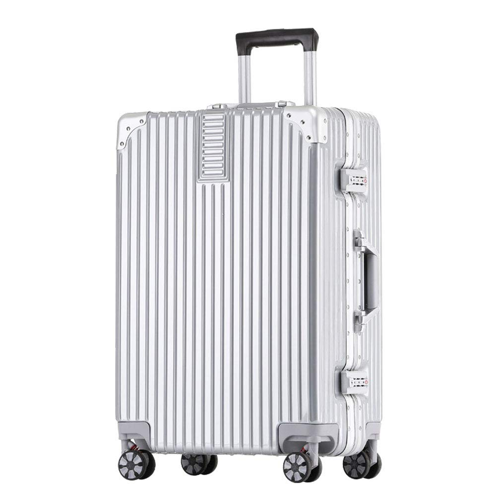 5 Colors Built-in Password Lock YD Luggage Set Trolley case Comfortable Handle Stylish Small Fresh and Bright Aluminum Frame Caster Student Large Capacity Suitcase ABS//PC 2