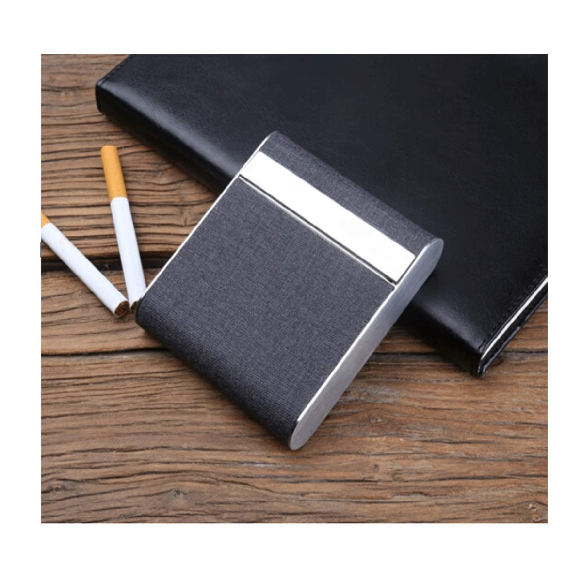WENPINHUI Cigarette Box Creative Stainless Steel Portable Male And Female Personality Flip Cover Cigarette Case Fashion Cigarette Pack To Send Leadership To Send Boyfriend Can Accommodate 20 Cigarette by WENPINHUI