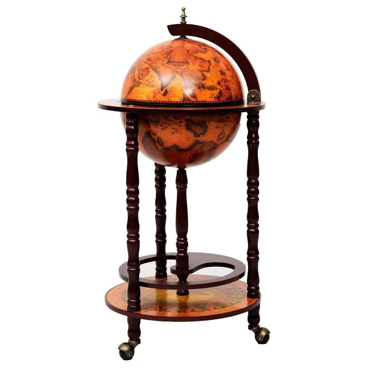 Globe Bar Liquor Cabinet Sixteenth-century Italian Replica Old World by Bar Cabinets