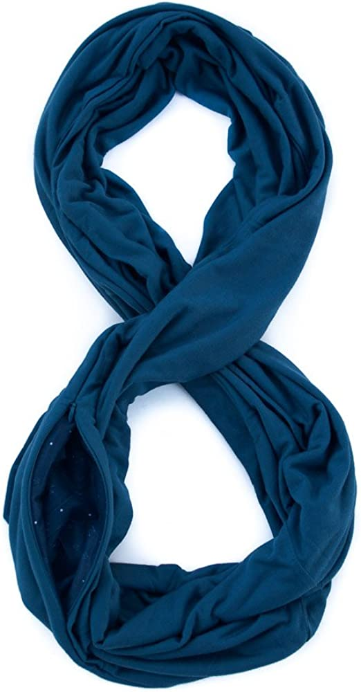 WAYPOINT GOODS Travel Scarf // Infinity Scarf w/Secret Hidden Zipper Pocket