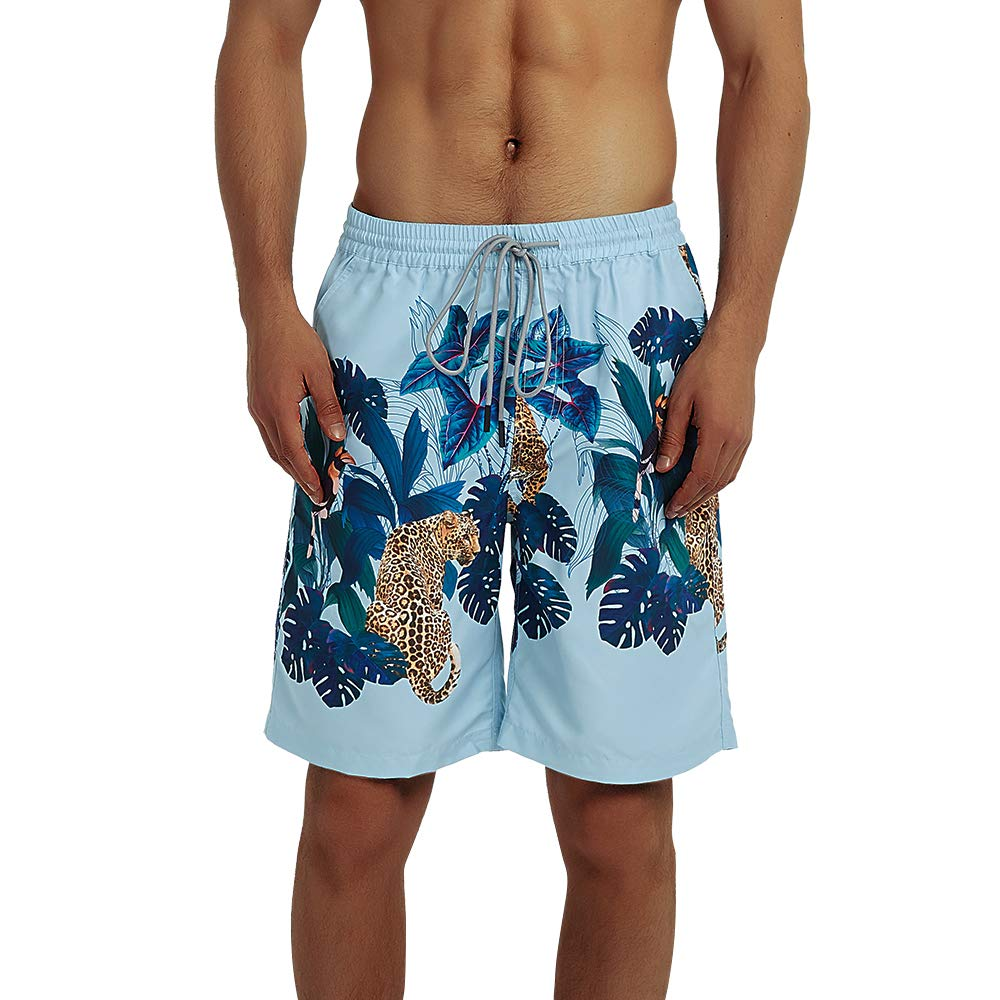 Balcony/&Falcon Mens Swim Trunks Quick Dry Beach Board Shorts Breathable Watershorts Waterproof Swimwear for Swimming Running Casual Pants Gym Surfing Workout