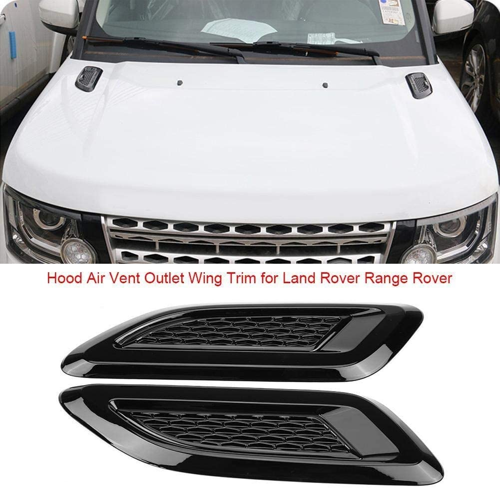 Car Fender Side Air Vent Outlet Cover Trim for Land Rover Range Rover Evoque