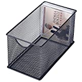 Black Mesh Metal CD Holder Box Organizer, Open Storage Bin Review