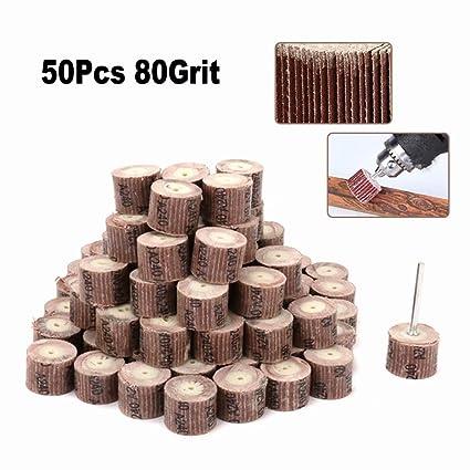 20mm Emery Cloth Flap Wheel Disc Sanding Abrasive 1//8/'/' Shank Grit 80-600