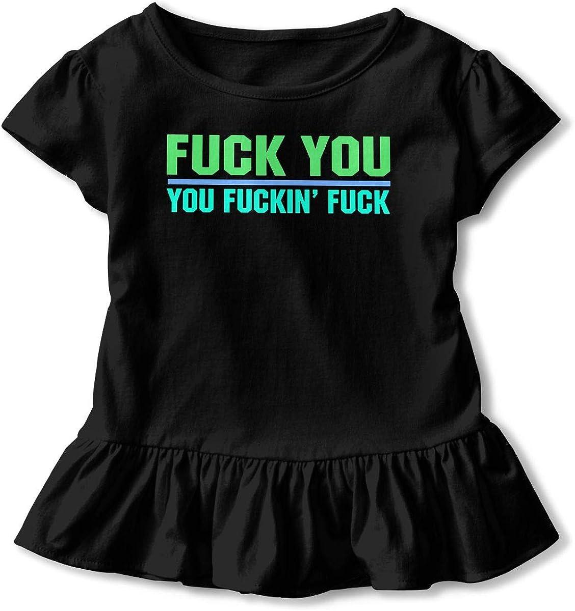 SC/_VD08 Fuck You Fuckin Funny Baby Girls Crew Neck T-Shirt Top/&Tee