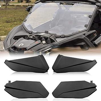 Front Lower Door Metal Inserts Panels for 4 Door 17-18 Can-Am X3 Turbo Maverick