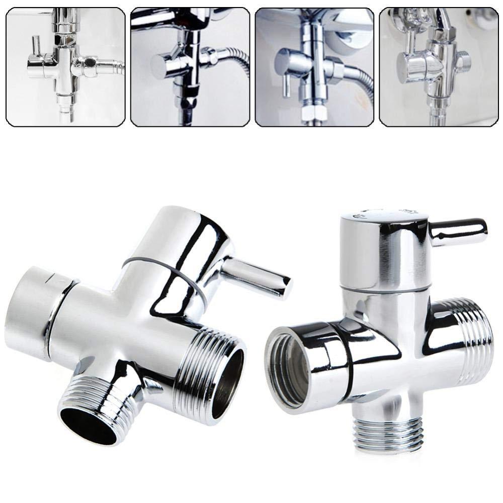 Bathroom Fixture T-adapter 3 Ways Valve For Diverter Bath Toilet Bidet Sprayer Shower Head New