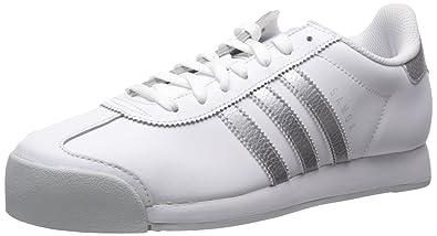 big sale 926ec 19e69 Image Unavailable. Image not available for. Color  adidas Men s Samoa Retro  Sneaker,White Metallic Silver Light Grey,10.5 M