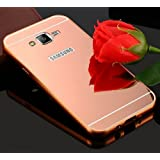 KPH Luxury Mirror Effect Acrylic back + Metal Bumper Case Cover for SAMSUNG GALAXY J2 Rose gold