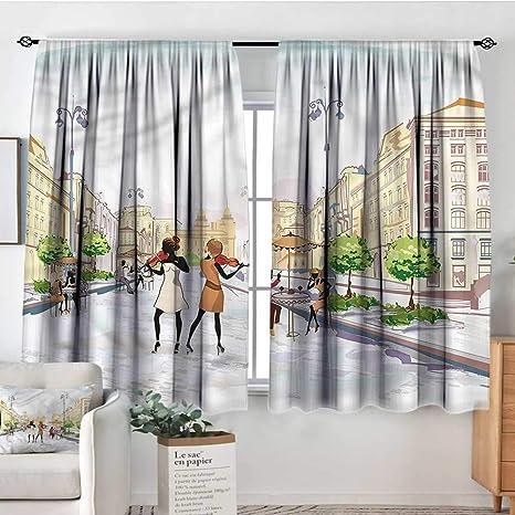 Amazon.com: Cortinas modernas de Sanring, con estampado en ...