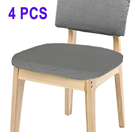 Voilamart Chair Seat Covers, Stretchable Dining Chair Cover Slipcovers,  Soft Chair Protectors for Dining Room Patio Office Chair - Pack of 4 (4pcs  ...