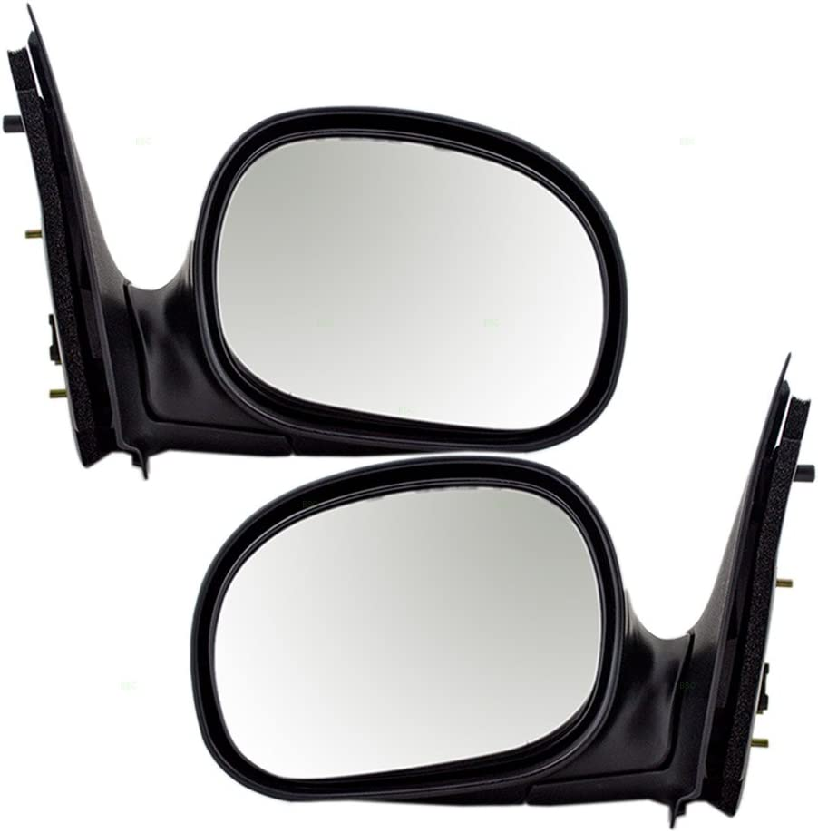 NEW LEFT /& RIGHT MANUAL MIRROR FOR 1997-2002 FORD F-150 FO1321188 FO1320188