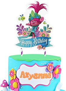 1 Trolls Cake Topper Decorations Birthday Party Supplies for Children