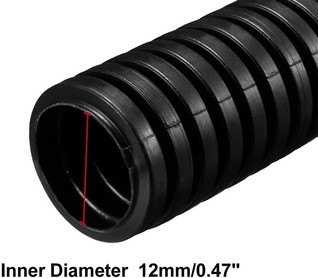 CHUNSHENN 6M Length 15.8mm Outside Dia Corrugated Bellow Conduit Tube for Electric Wiring Black Tools