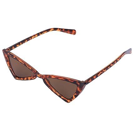 a668c69073 TOOGOO Gafas de sol de mujer Vintage Triangle-Sunglasses Gafas graduadas  Leopardo