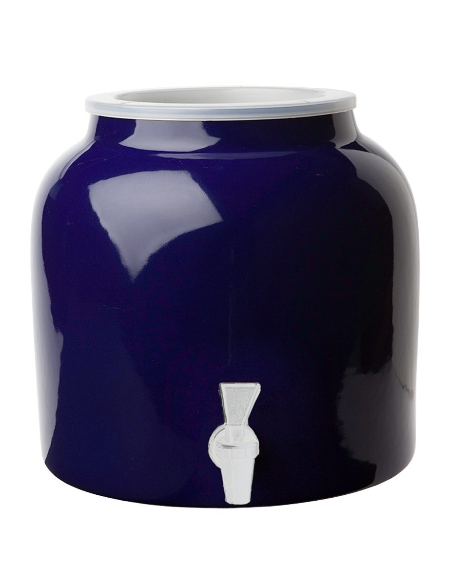 New Wave Enviro Porcelain Water Dispenser, Cobalt Blue