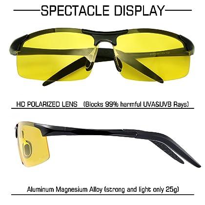 1db12d4c073 ... Sports Polarized Sunglasses for Men - wearPro Driving Sunglasses Al-Mg  Metal Frame WP1005( ...