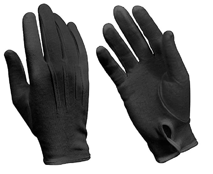 Amazon.com  Black Military Cotton Dress Gloves Band Gloves Parade Gloves  Waiter Gloves  Clothing 05352abc514