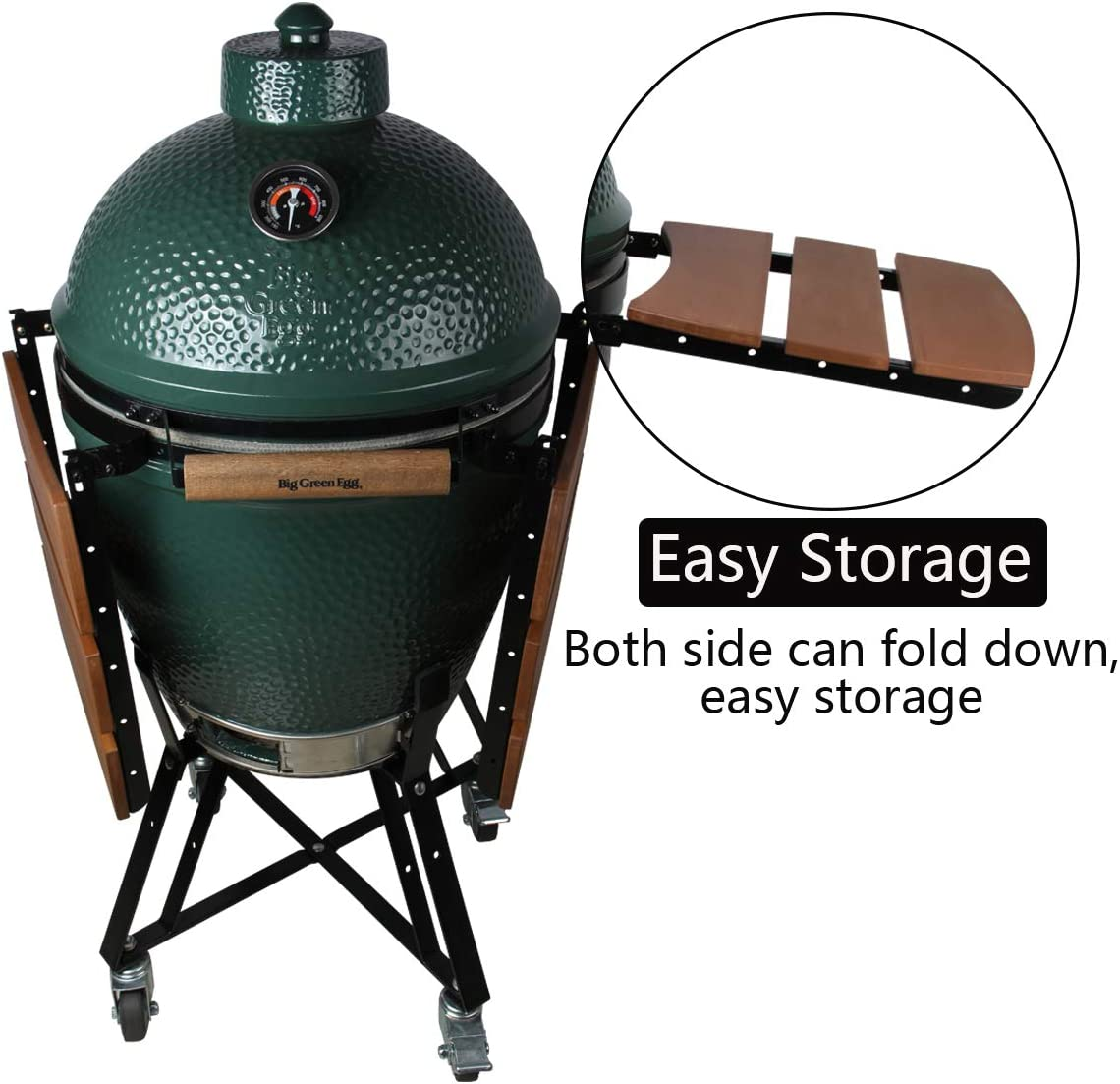 Dracarys Big Green Egg Grill HDPE Shelves Green Egg Accessories Replacement Egg Mate BBQ Grill Folding Side Shelves Fit for Large Big Green Egg Side Shelves Grill Smoker Accessories,Set of 2-New L
