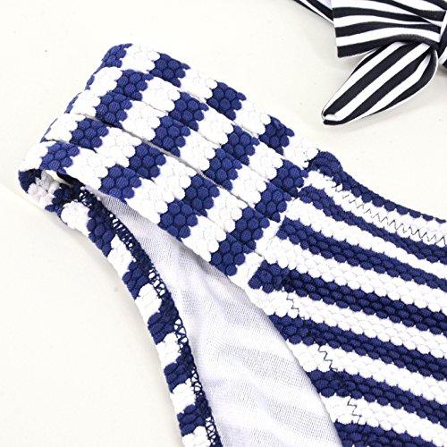 YONGYI Europa y América playa del verano de rayado atractivo blanco y negro traje de baño 2017 traje de baño atractivo del bikini de rayas blanco y negro