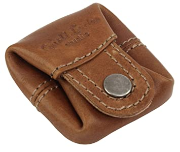Gusti Monedero Cuero Linus Monedero portamonedas pequeño marrón Claro