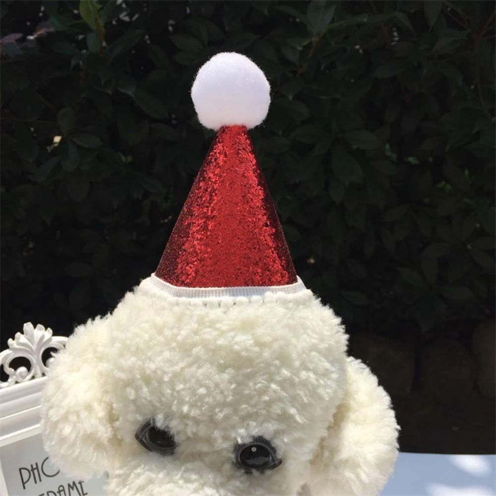 perros y mascotas Pap/á Noel Amosfun gatos peque/ños Medium Gorro de Pap/á Noel para cachorro poli/éster gatito
