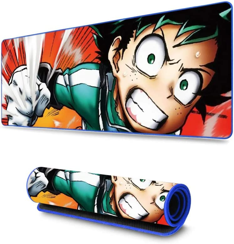 Stitched Edges Wide /& Long Mousepad 31.5 x 11.8 x 0.12 Funky Store My Hero Academia Boku no Hero Academia Large Extended Gaming Mouse Pad Mat Ultra Thick 3 mm MYH- 06