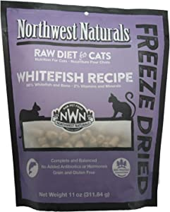 Northwest Naturals Freeze Dried Raw Cat Food Nibbles, 11 Ounces (Whitefish)